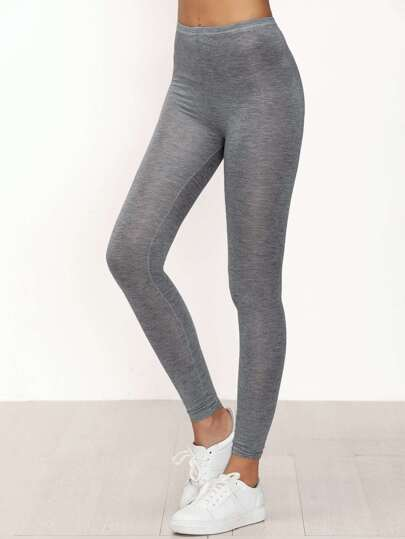 Skinny Casual Leggings-grau
