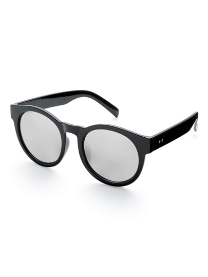 Gafas de sol redondas con lentes de espejo