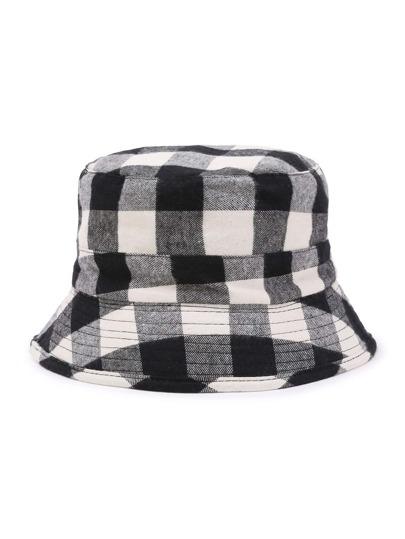 Gingham Print Bucket Hat