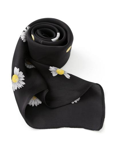 Bandana satin imprimé fleur