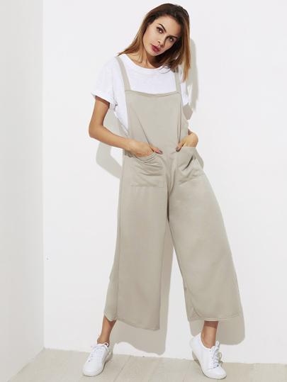 Combinaisons jambe large avec poches avant