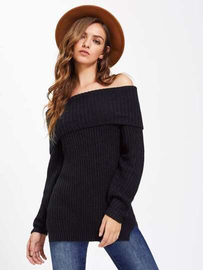 Pullover mit belüftetem Saum