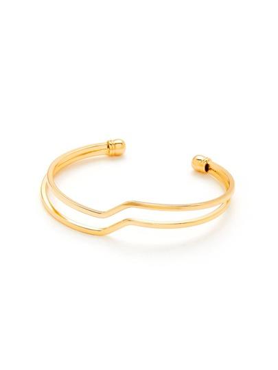 Double Layered Cuff Bracelet