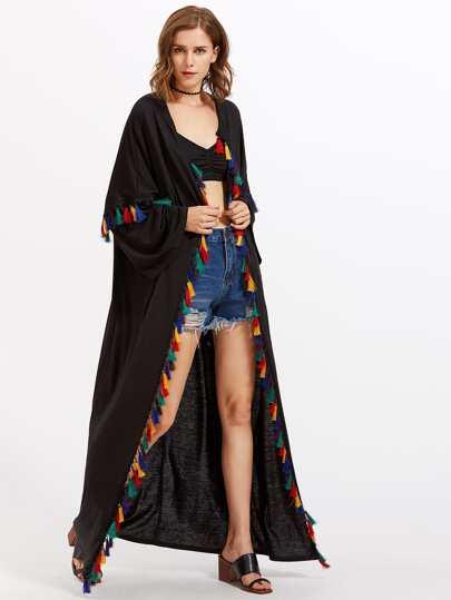 Kimono long avec des franges
