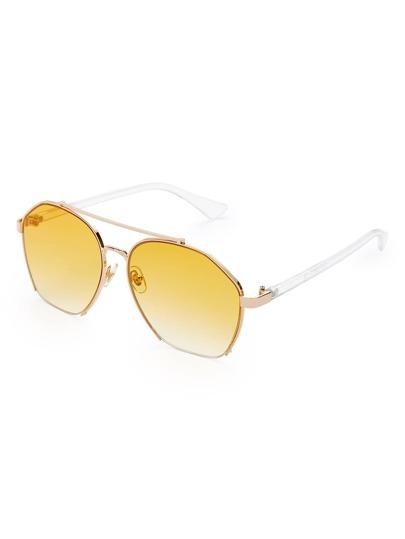 Gafas de sol con barra superior y lentes teñidos