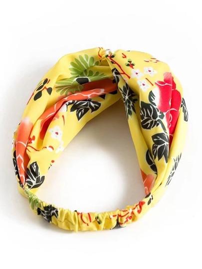 Botanical Print Twist Headband