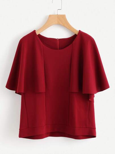 Frill Sleeve Seam Detail Blouse
