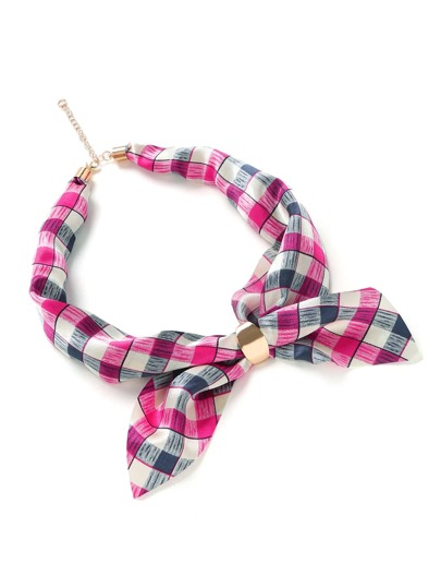Plaid Print Satin Neckerchief