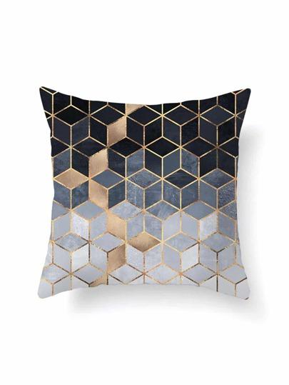 Kissenbezug Ombre Geometriemuster