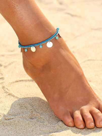 Two Tone Beaded Bracelet/Ankle