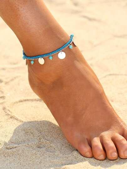 Bracelet / cheville à deux tons