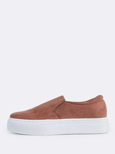 Slide On Platform Sneakers MAUVE