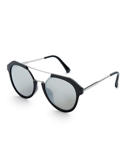 Gafas de sol con barra superior y lente de espejo