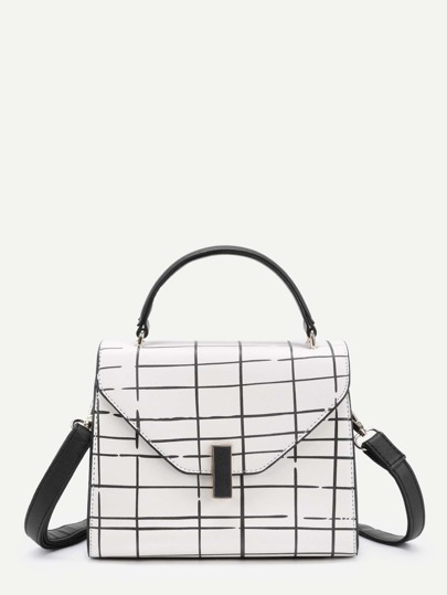 Plaid Design PU Grap Bag
