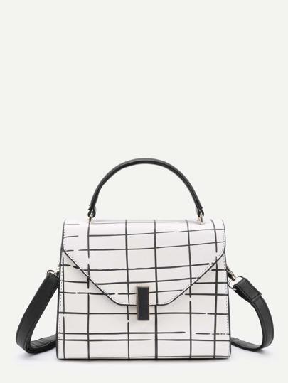 Модная кожаная сумка с принтом