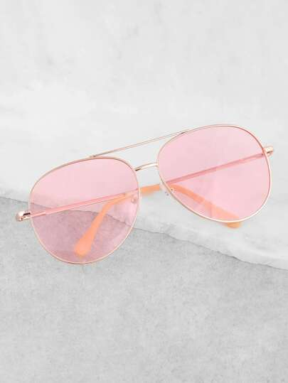 Tinted Aviator Sunglasses PINK