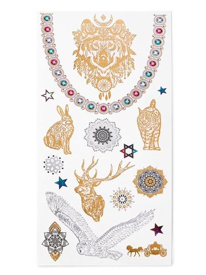 Модная наклейка-татуировка в форме животного