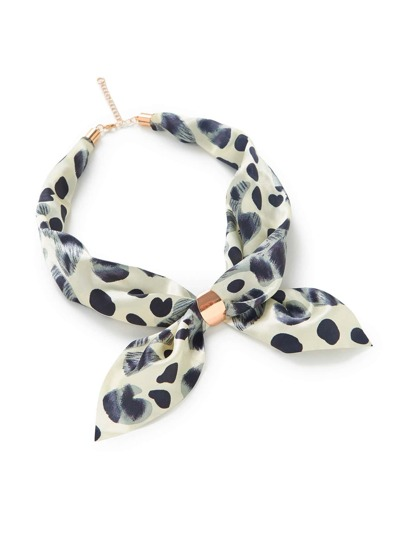 Polka Dot Print Chain Linked Neckerchief