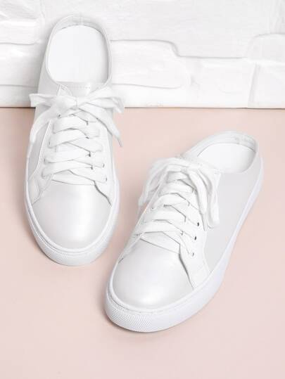 Lace Up Mule Sneakers