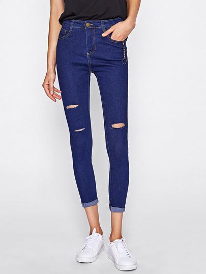 Knee Rips Skinny Jeans