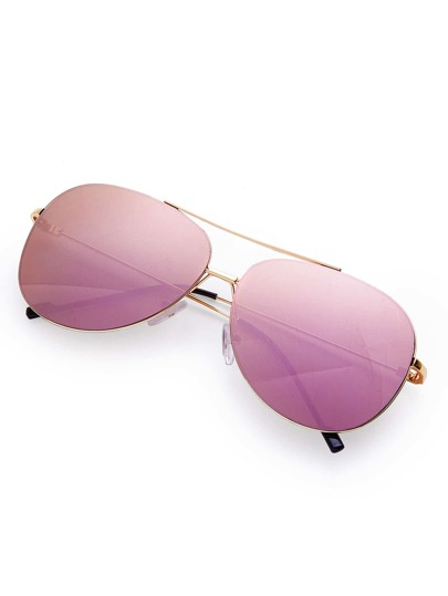 Gafas de sol estilo aviador con puente doble sin montura