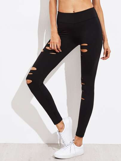 Active Ripped Gym Leggings