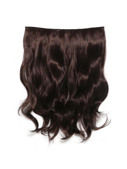 Extensión de pelo ondulado negro cereza