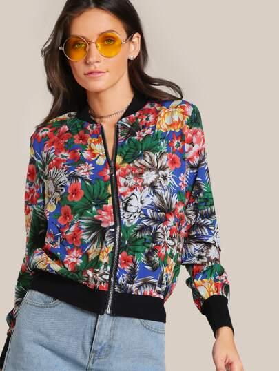 Floral Print Jacket GREEN
