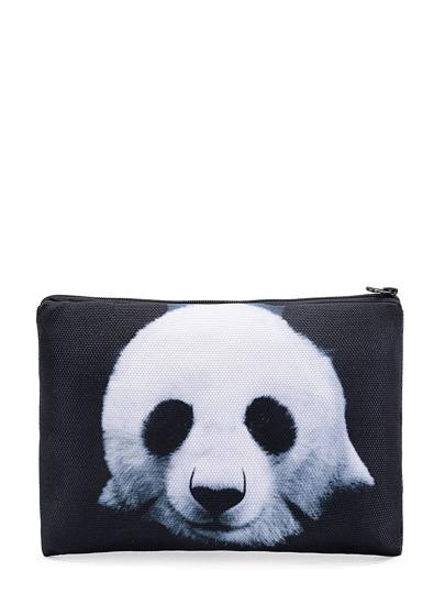 Sacchetto accessori con stampa di panda
