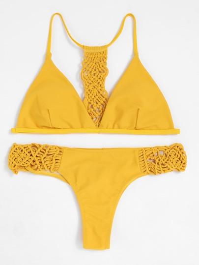 Ensemble de Bikini triangle avec détail tressé