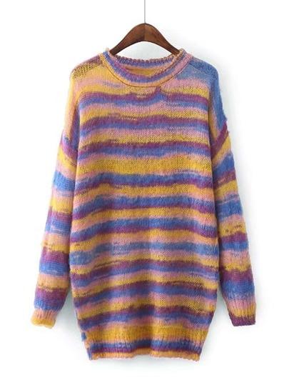 Sweater robe décontracté à rayures
