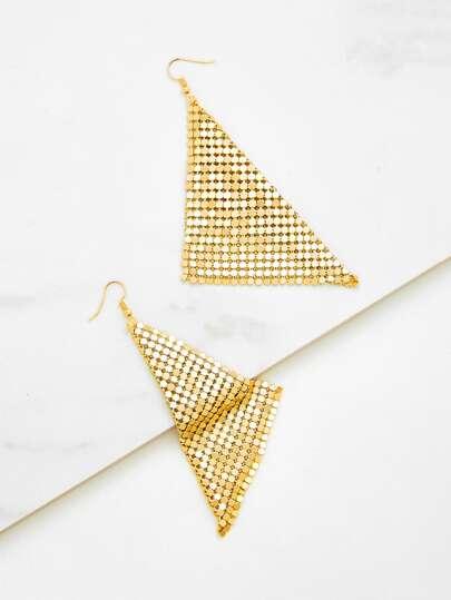 Boucles d\'oreille design de triangle métallique