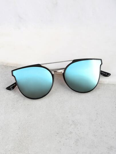 Reflective Wayfarer Sunnies BLUE