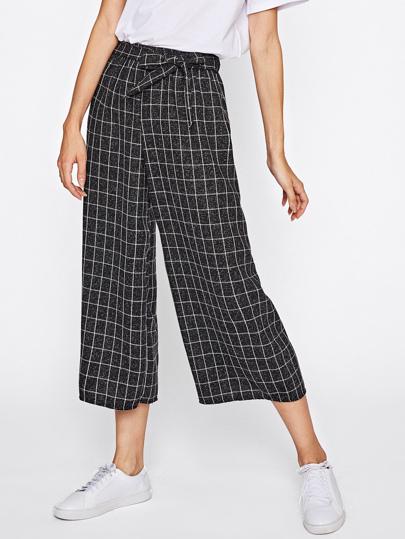 Pantalones con estampado y cordón