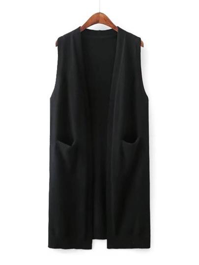 Open Front Knit Vest