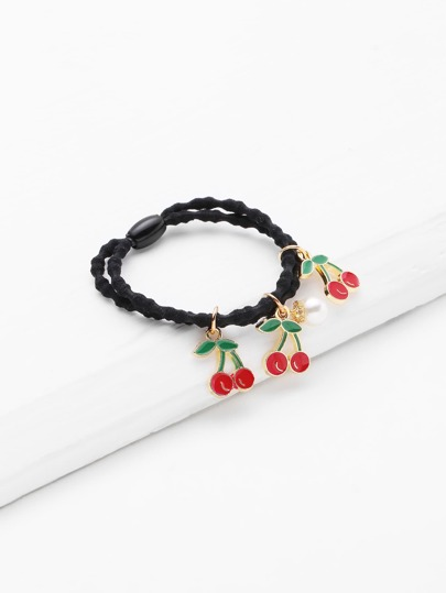Cherry Charm Hair Tie