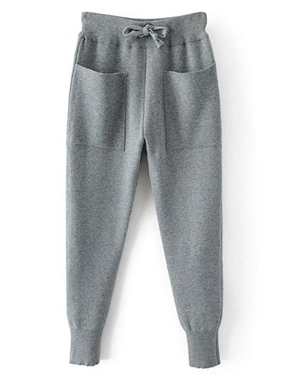 Front Pocket Drawstring Waist Sweatpants