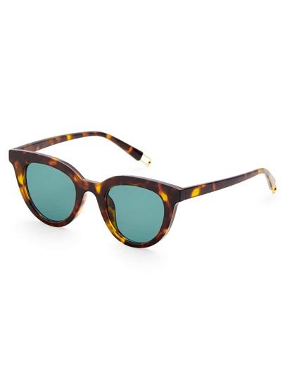 Gafas de sol con lente plano teñido