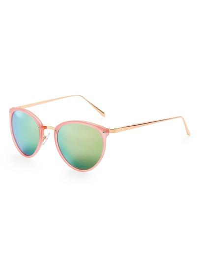 Gafas de sol con montura fina con lente flash