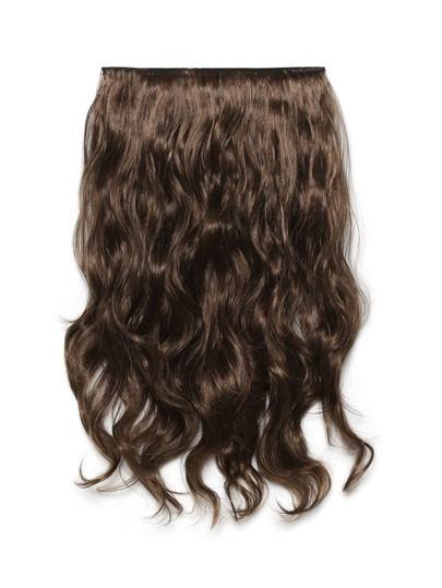 Trama de pelo largo suave ondulado de color moreno