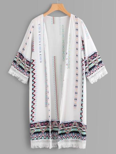 Kimono con stampa tribale