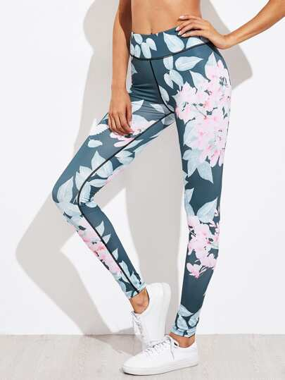 Active Florals Gym Leggings