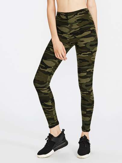 Active Camo Print Legging