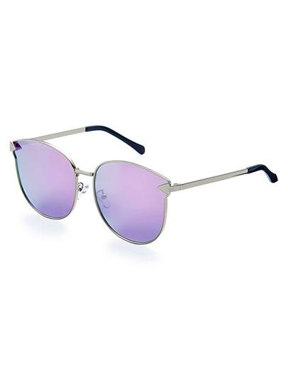 Gafas de sol con montura metálica y lente plano