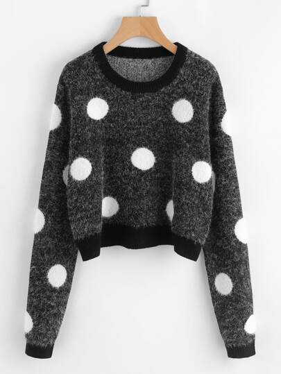 Polka Dot Fluffy Jumper