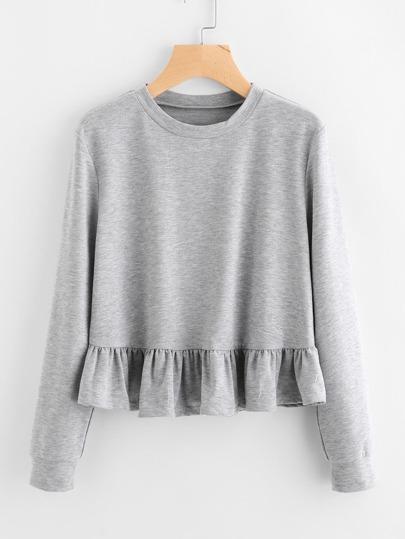 Sweat-shirt avec pan à volants