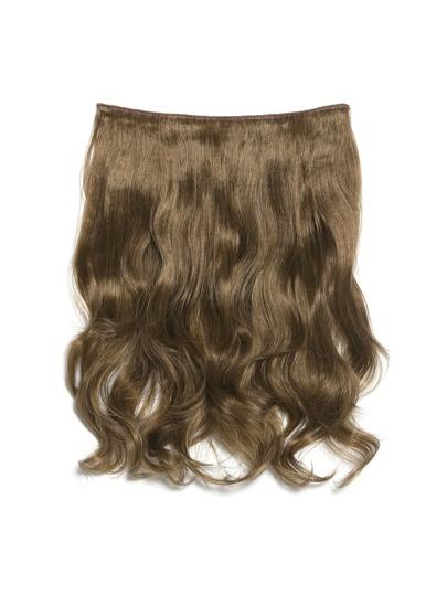 Extensión de pelo ondulado rubio oscuro