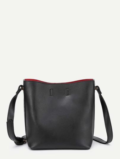 Simple PU Bucket Bag