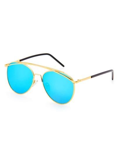 Gafas de sol de estilo aviador con barra superior