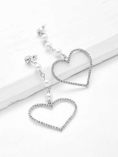 Heart Design Drop Earrings With Jewelry